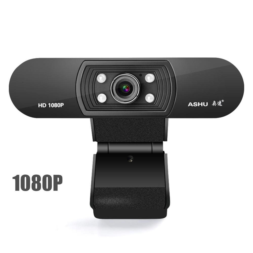 1080P كاميرا ويب، وكاميرا HDWeb مع المدمج في ميكروفون HD 1920 × 1080P USB كاميرا ويب، عريضة فيديو T191022