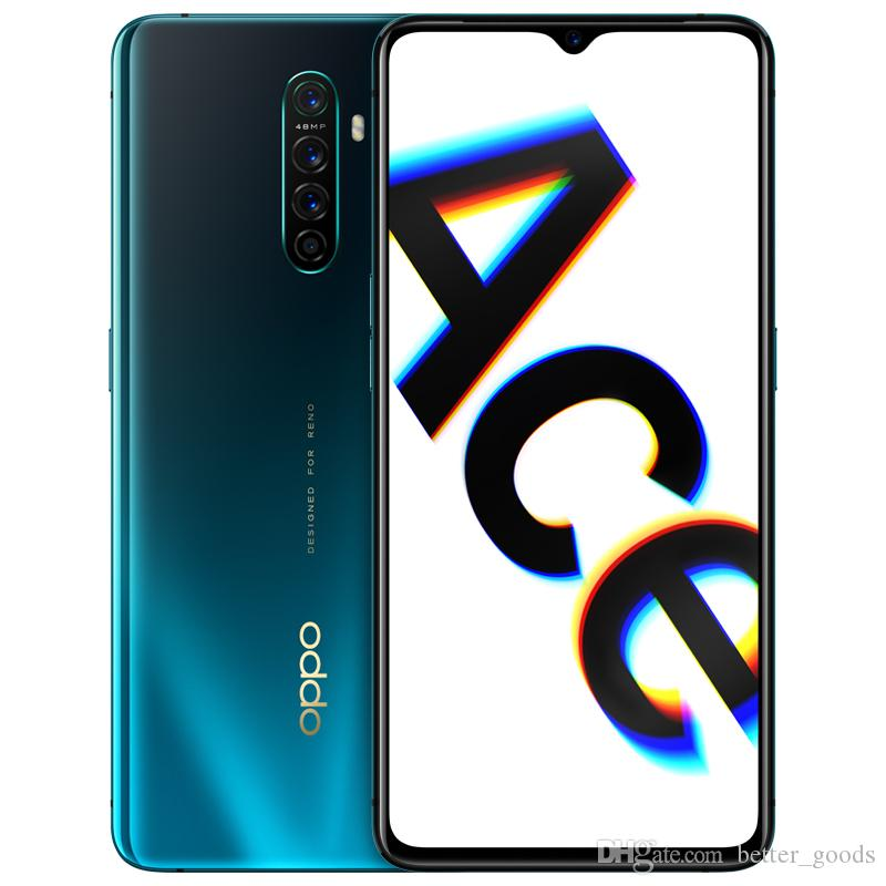 """Original Oppo Reno Ace 4G LTE Cell Phone 8GB RAM 128GB 256GB ROM Snapdragon 855+ Octa Core 48.0MP AI NFC Android 6.5"""" Full Screen Fingerprint ID Face Smart Mobile Phone"""