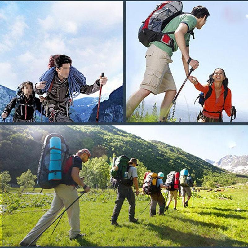 50-110cm nórdica Bastón plegable bastones de trekking bastón excursiones 4 Sección antichoque telescópico ajustable que Bastones Palo Z60