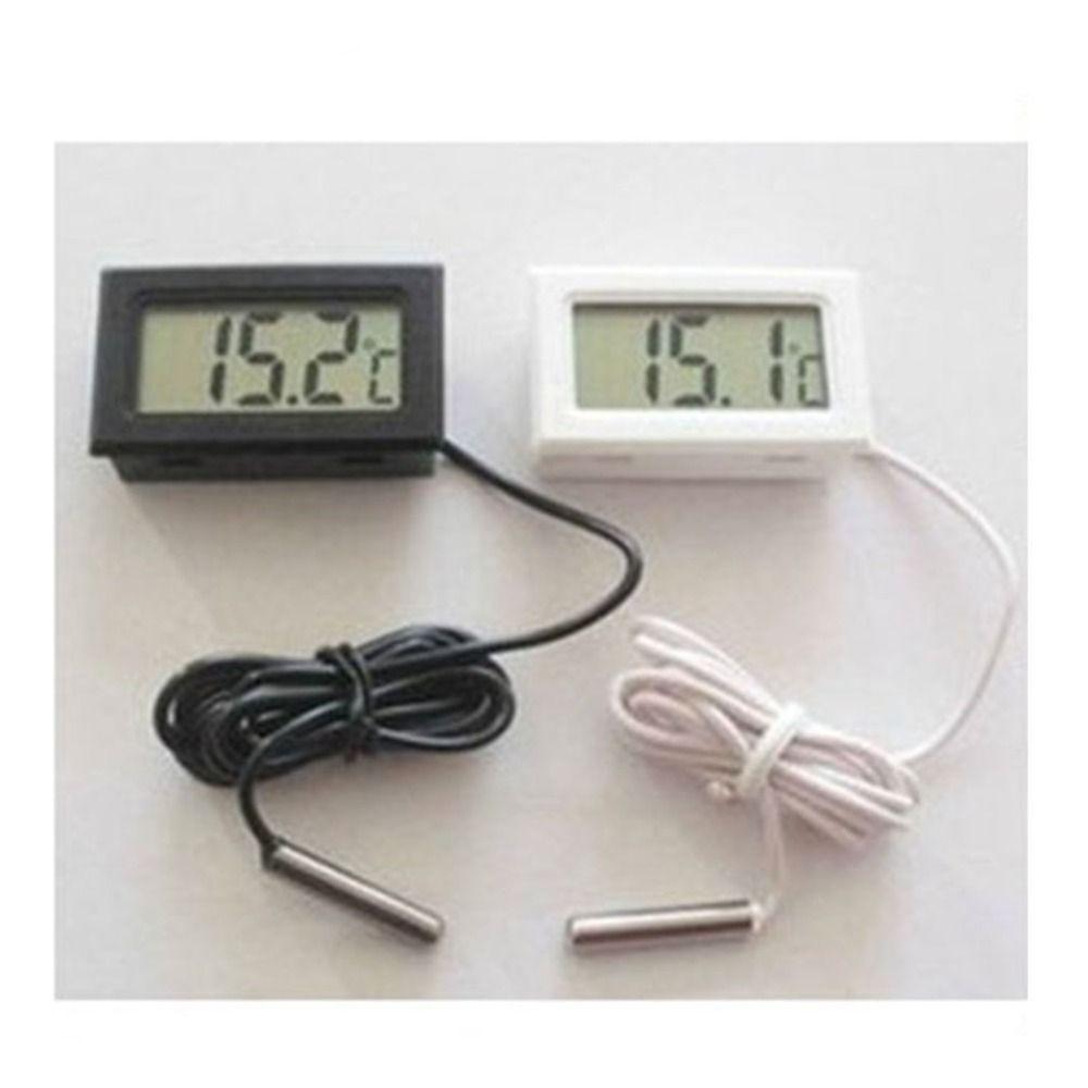 Auto-Thermometer-Auto-Verzierungen LCD Display Digital Clock Car-Styling Temperaturanzeige Meter für Aquarium Kühlschrank