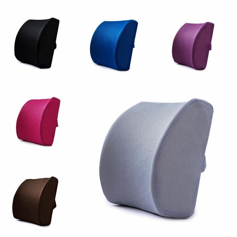 Nueva espuma de memoria lumbar del amortiguador de la almohadilla del recorrido silla del coche de la ayuda trasera almohadilla del recorrido del amortiguador lumbar oficina