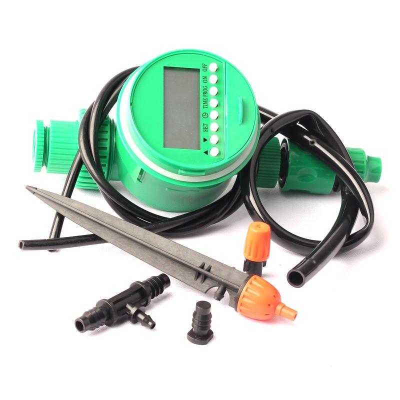Green Thumb Irrigação Kit de Irrigação Temporizador Controle 4pcs Laranja Inserir Atomize aspersão e plástico laranja névoa de extinção