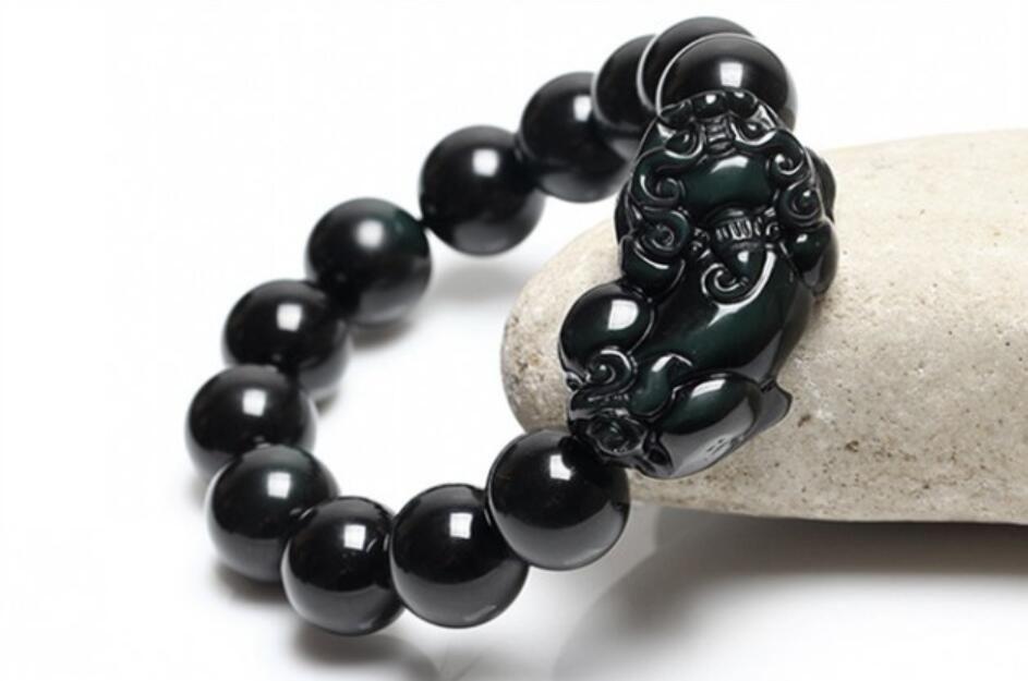 Kaiguang natürliche Schleif Obsidian Yuzhu ein Geld PI xiu Reichtum Armband Strings Männer und Frauen Paare Geld