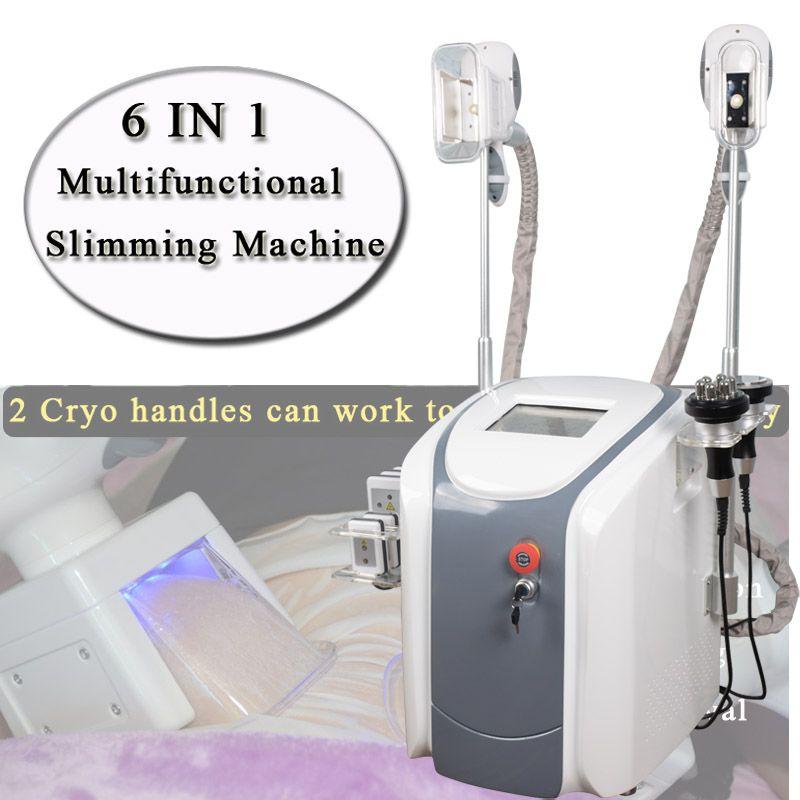 지방 냉동 기계 허리 슬리밍 캐비테이션 RF 기계 지방 감소 리포 레이저 2 개 동결 헤드가 동시에 작업 할 수