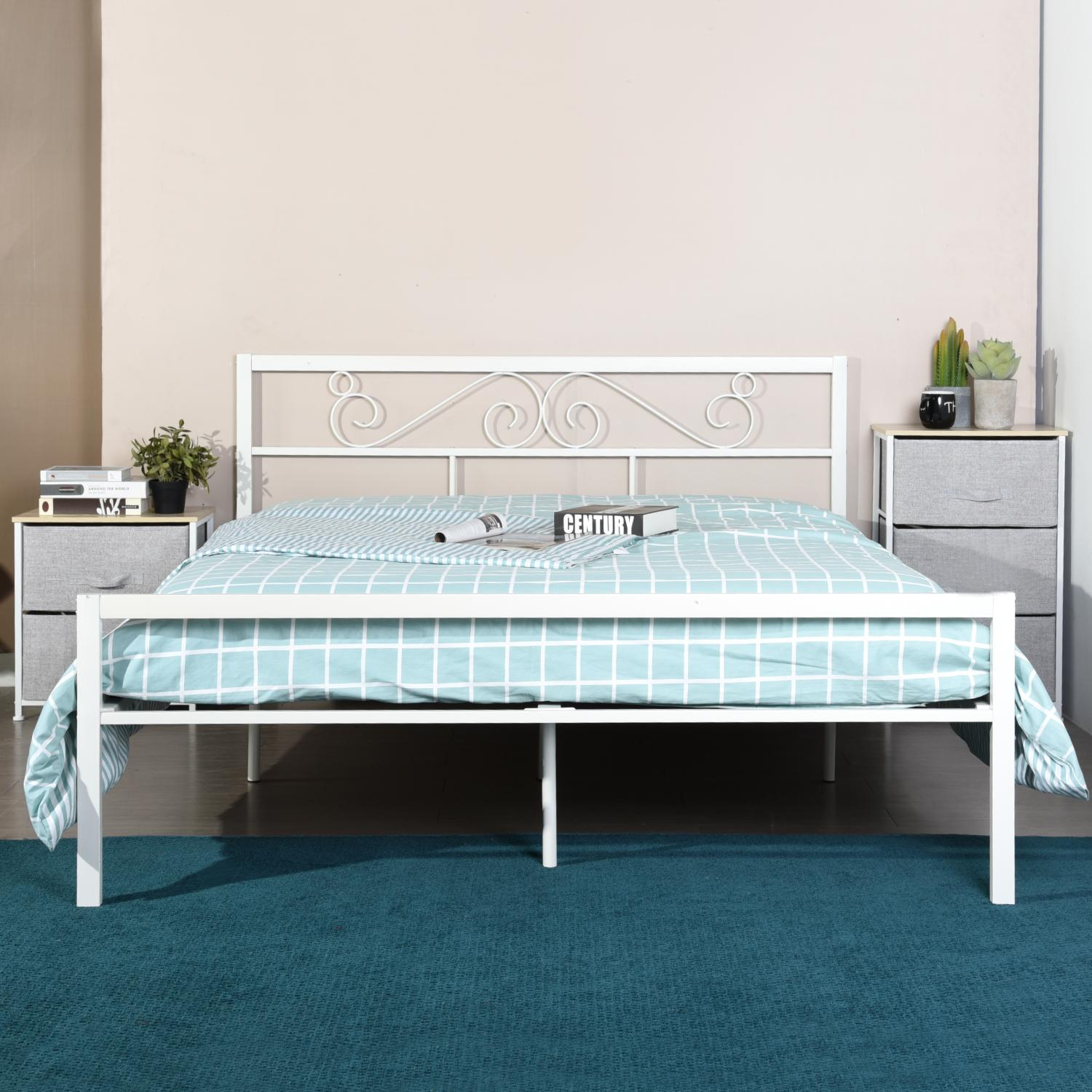 2020 Simple Metal Bed Frames King Twin Bed Frame Foundation Headboard Footboard Queen Size Bed Frame From Yechain 251 16 Dhgate Com