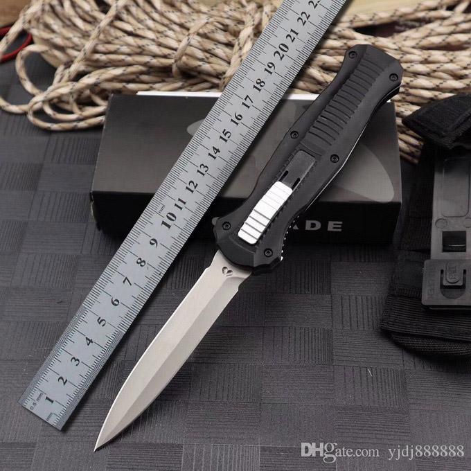 벤치 메이드 BM 3300 3310 자동 나이프 아웃 프론트 더블 액션 자동 D2 강철 창 포인트 일반 전술 EDC 생존 칼 3310BK 도구