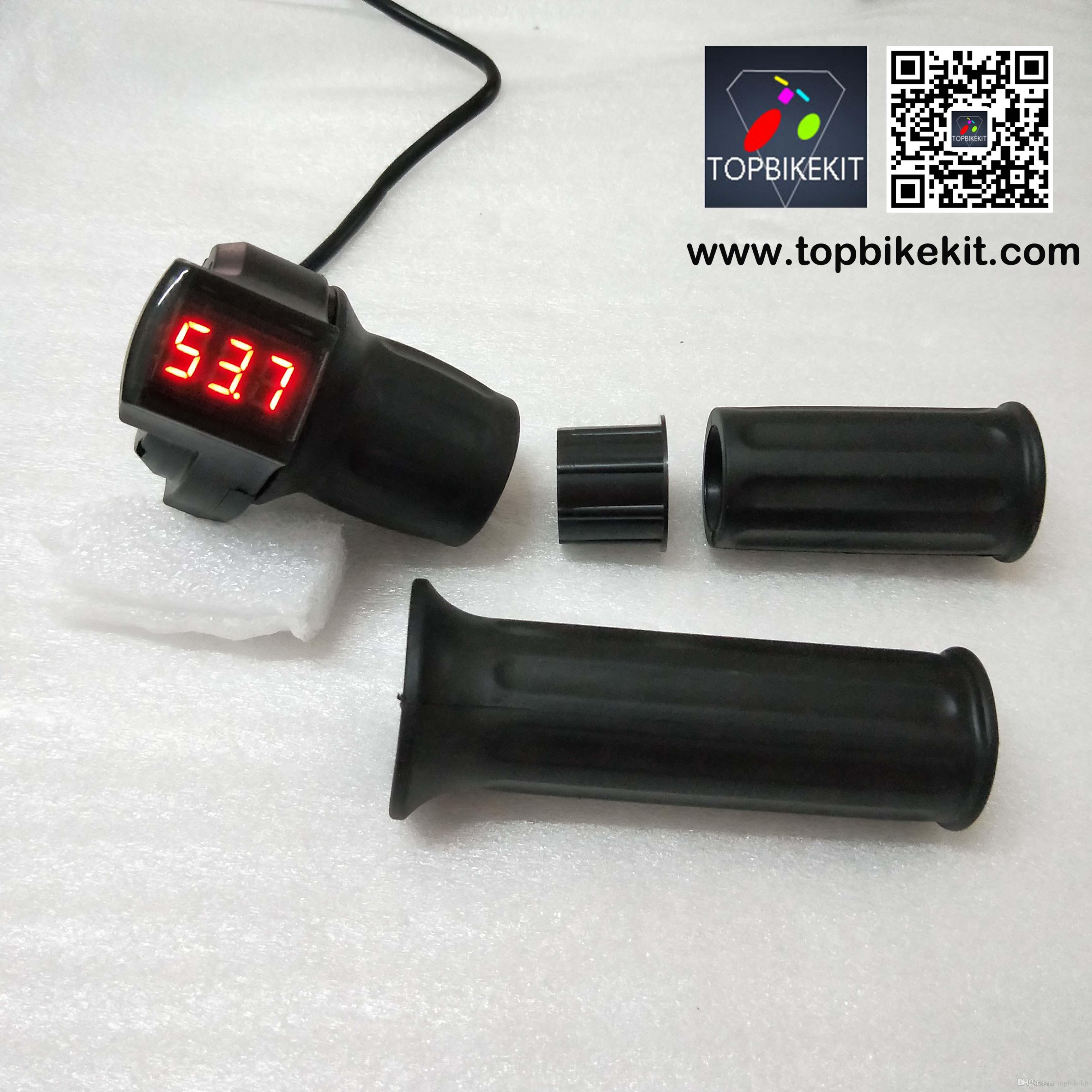 24V//36V//48V Half Throttle W//LED Voltage Display For Electric Bike E-bike