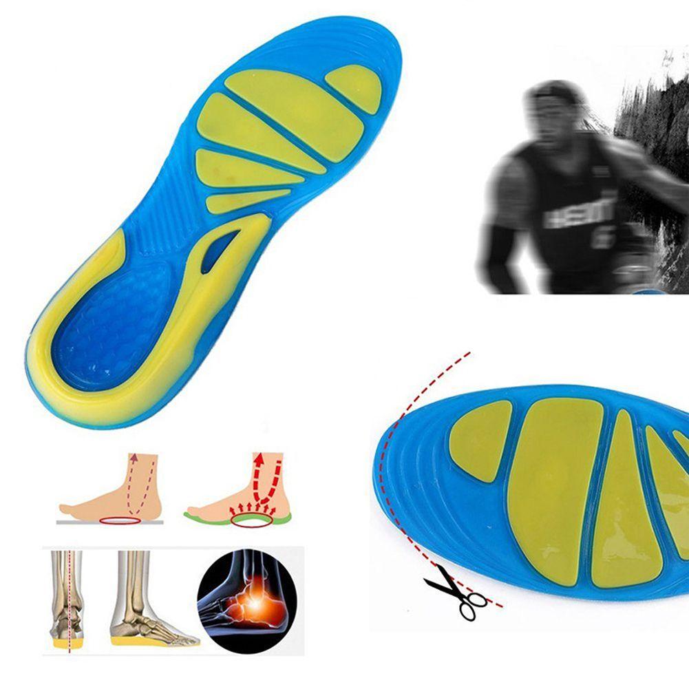 Funzionamento stabile Inserire Cuscino unisex TPE Sport Cura del Piede militare antisdrucciolevoli ortopedico sottopiede rilievo del pattino Walking assorbimento di scossa
