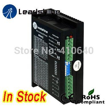 2-фазный шаговый привод Leadshine M542 с напряжением от 20 до 50 В постоянного тока и током от 1,0 до 4,2 а чистый синусоидальный контроль тока более надежный