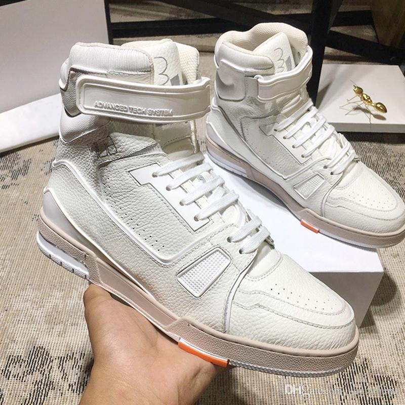 Louis Vuitton LV Fashion Classic Trainer Sneaker Stiefel Herren-Schuhe Vintage-Sneakers Leichte Schuhe Bequeme Plus Size High Top Lace-up Sport Herren Schuhe
