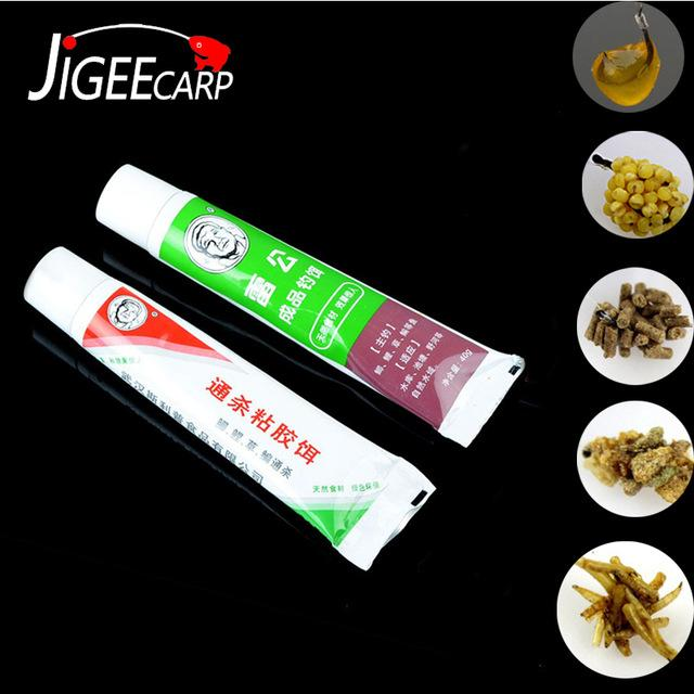 ports & Entertainment JIGEECARP 1 Tube Strong Sticky Bait Glue Carp Fishing Lure Tool For Rice Maggots Bait Viscose Paste-like Adhesive S...