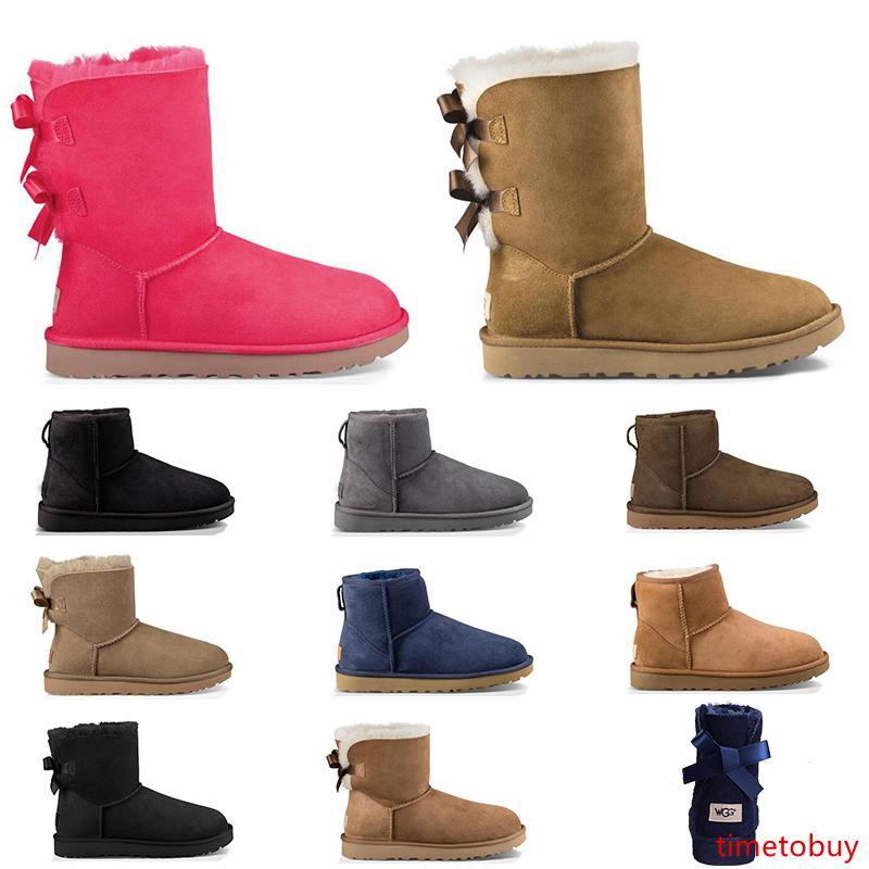 2020 дизайнер Австралия женские сапоги классический снег мех ботильоны лодыжки выстрел для зимы тройной черный каштан темно-синий красный мода Женская обувь