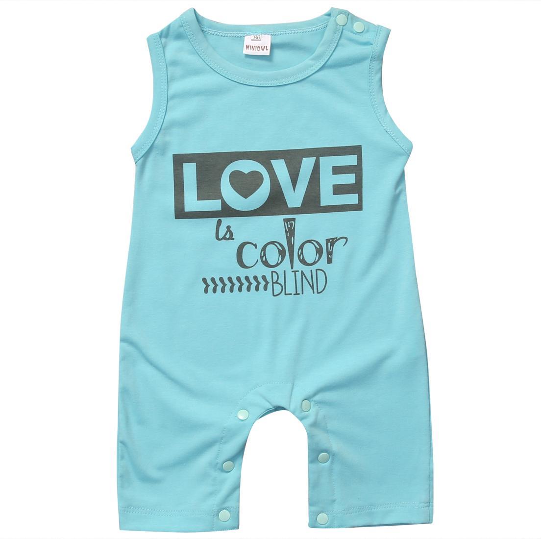 Pagliaccetto del bambino estate ragazzo neonato amore della ragazza del pagliaccetto cotone tuta Abbigliamento Outfits0-24M