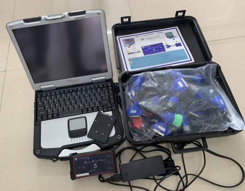 Diagnóstico ferramenta Dearborn protocolo adapter5 varredor de caminhão pesado dpa5 sem bluetooth dpa 5 computador tela de toque com laptop cf30 conjunto completo
