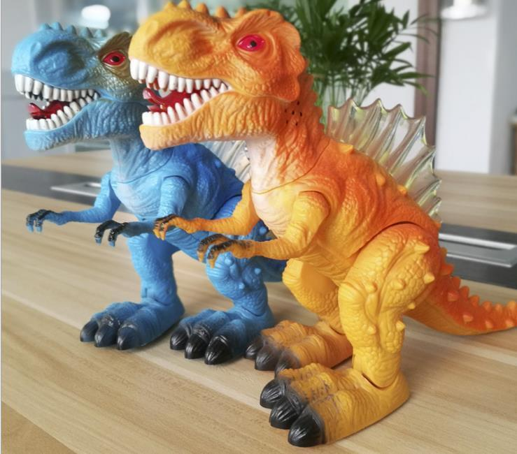 Children's Electric Dinosaur Toys Luminescent Sound Simulation Animal Plastic Model Toy J190517