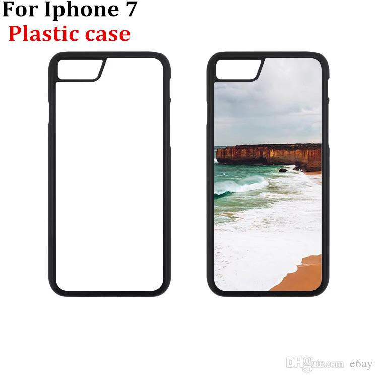 For Iphone 7/8 DIY 2D Sublimation Cases Heat Press PC Case With Blank Metal Aluminium Plates DHL Free Shipping