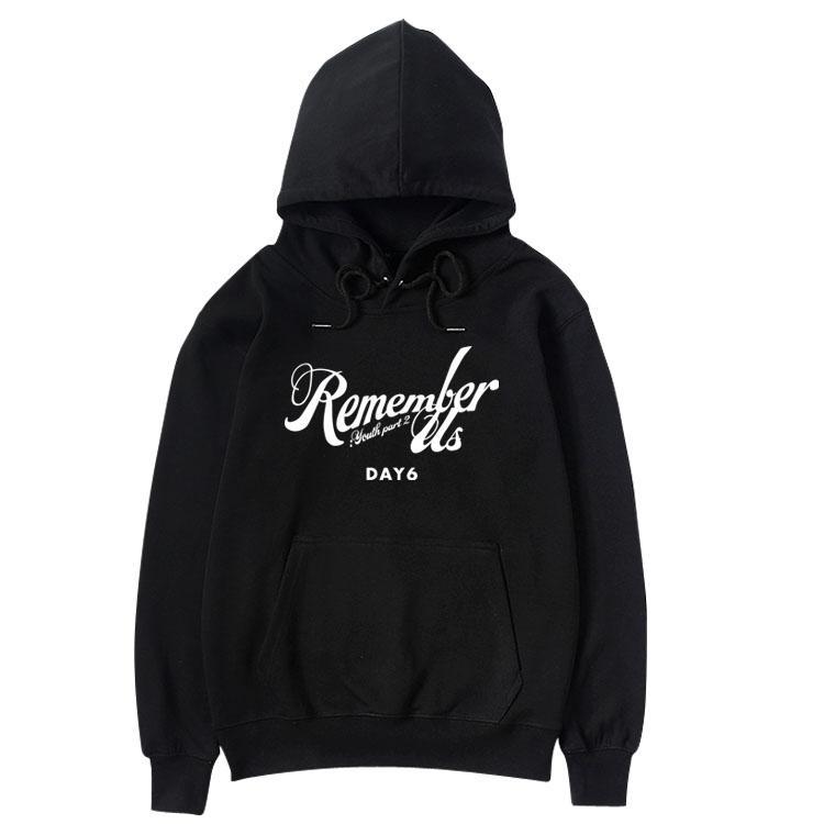 day6 nuevo nos recuerda part2 jóvenes misma capucha de impresión para los fans del kpop unisex jersey de lana / camiseta floja delgada