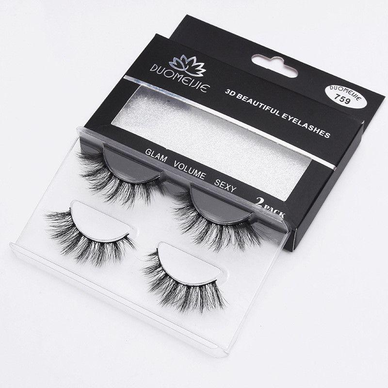 2 쌍 / 속눈썹 3D 거짓 속눈썹 눈 메이크업 자연 긴 두꺼운 속눈썹 확장 핫 패션 12 스타일 수제 눈 속눈썹