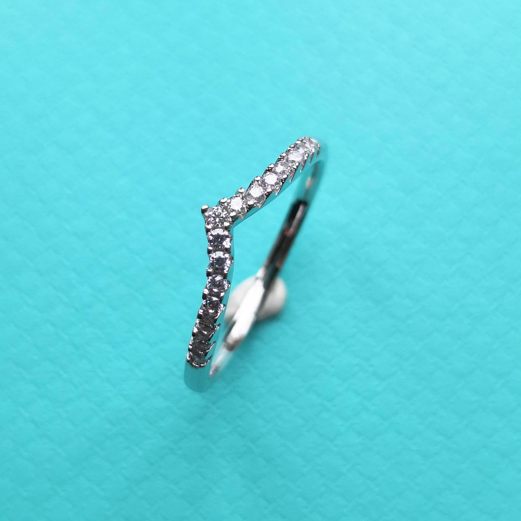 Ms S925 anello in argento puro zircone sia europeo e burlone di modo regali i regali di festa americani