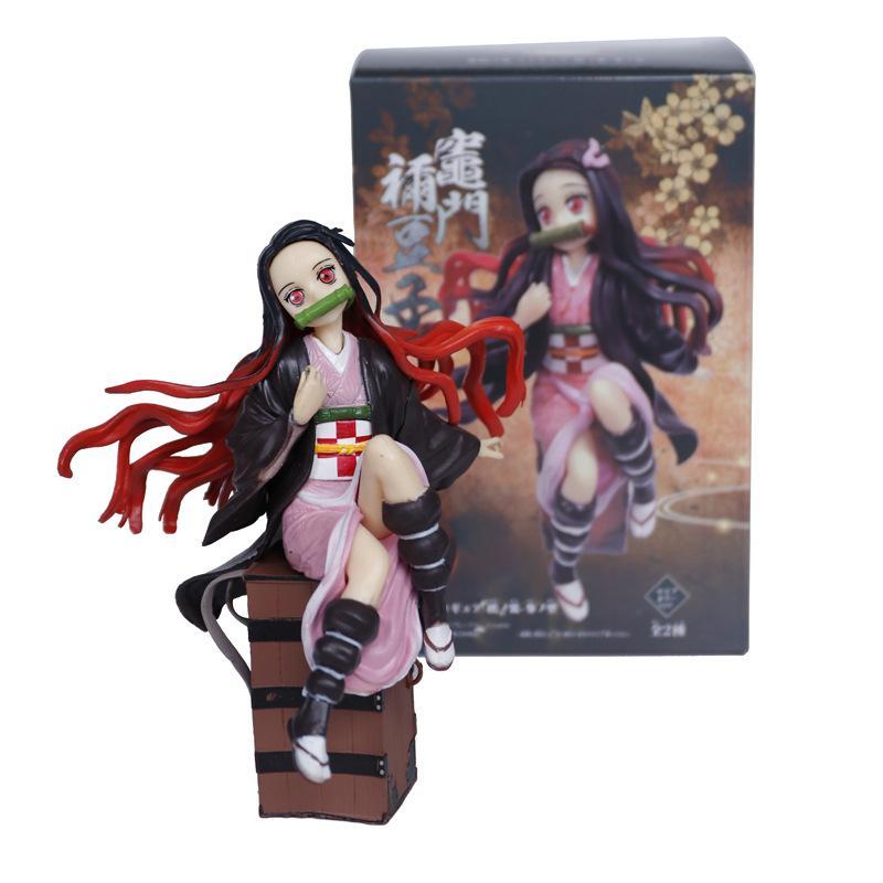 Anime Demon Slayer Kimetsu no Yaiba Kamado Nezuko PVC Figure Toy In Box 15cm