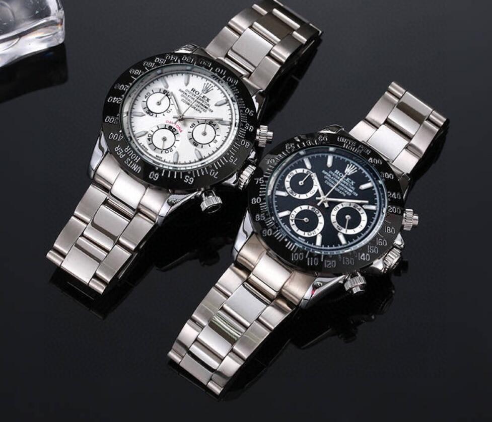 2020 Heißer Verkauf Mann-Uhr für Mann Quarz Stoppuhr Herren Chronograph Uhren Edelstahl Armbanduhr Lederband f02