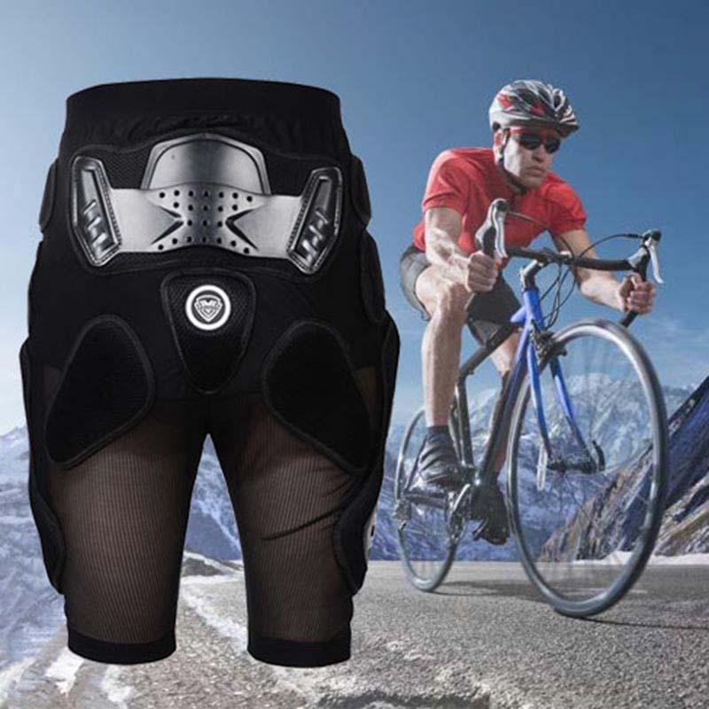 New Cycling Men Shorts Off-road Motor Ski Hip Protection Short MTB Bicycle Shorts Racing Cycling Downhill Black