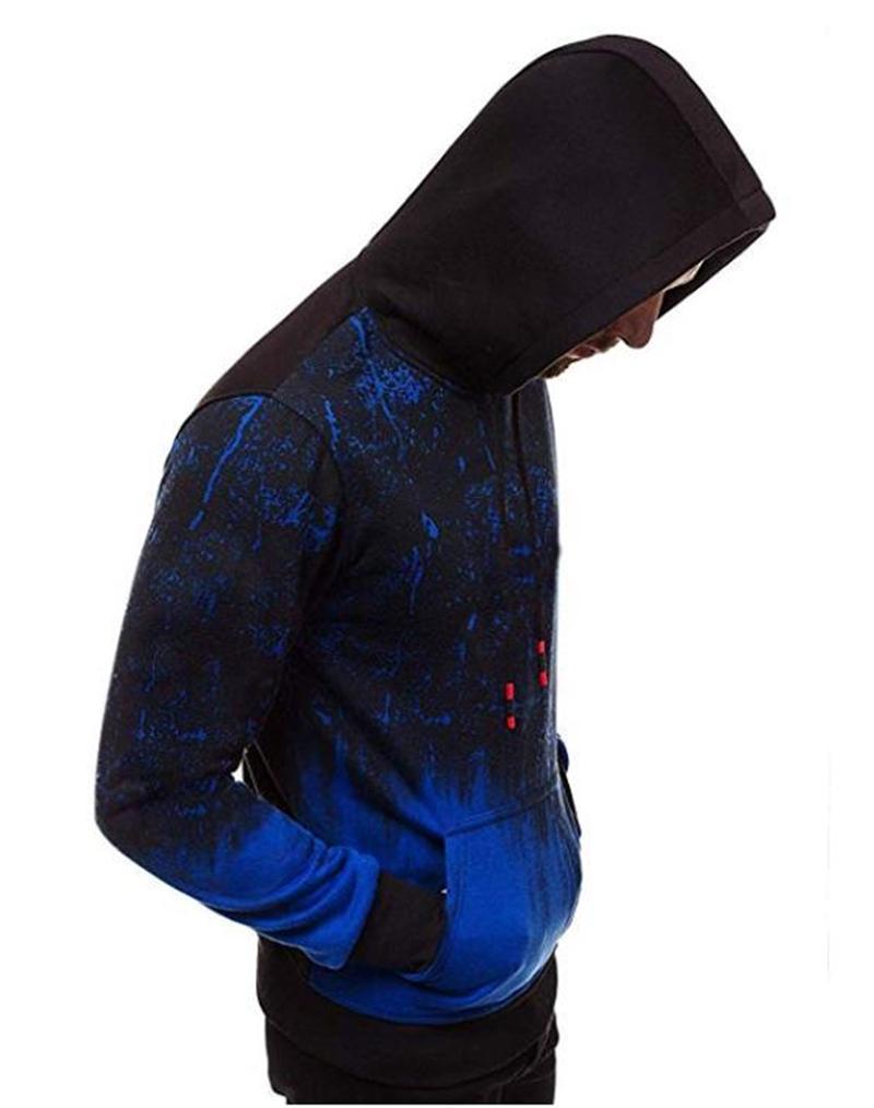 Hoodies para homens encostar manga comprida moletom com capuz Top com bolso queda roupas de inverno Outfits