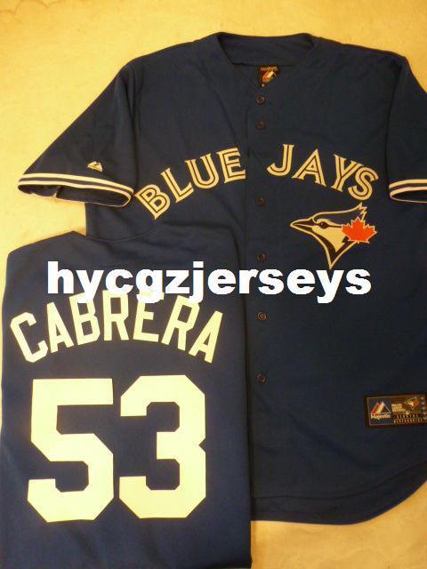رخيصة البيسبول # 53 ميلكي كابريرا مخيط قميص JERSEY NEW STYLE الأزرق رجل الكبيرة مخيط بالقميص كبير وطويل القامة SIZE XS-6XL للبيع
