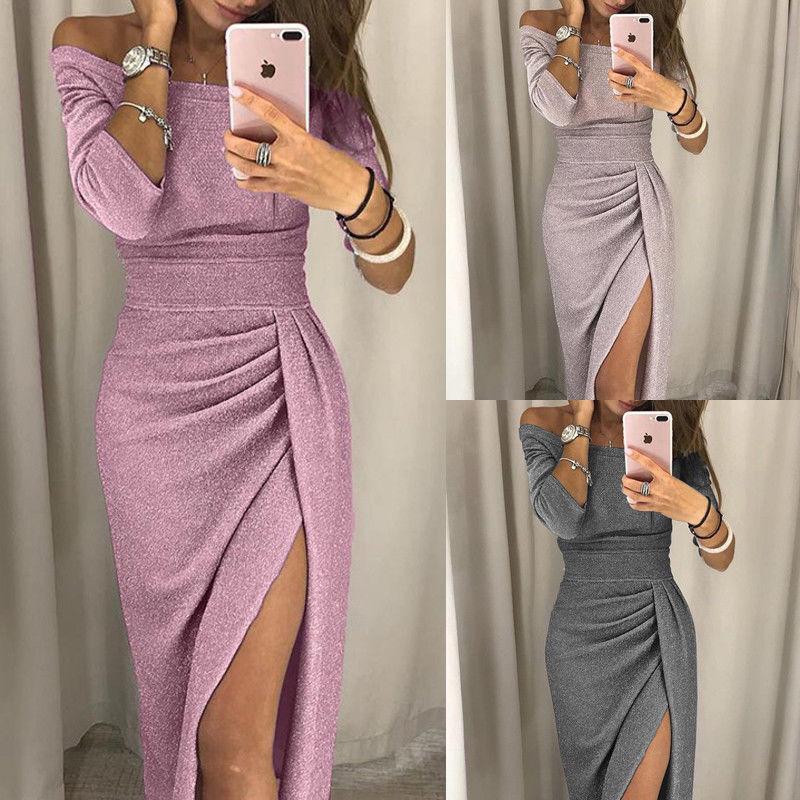 Aragaki Mulheres Alças Bodycon Vestido Dividir Maxi vestido de festa vestido de noite Wear Sexy Vestidos AK004