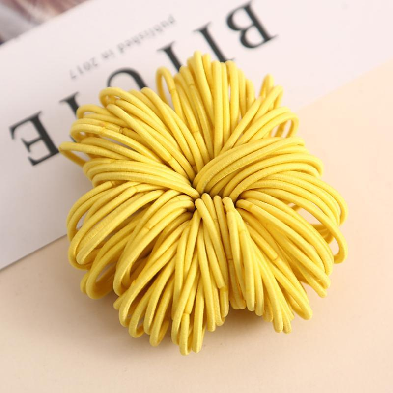 100pcs/lot kids hair clip Hair Accessories scrunchies Elastic Bands Girls decorations Headbands Rubber Band gum for