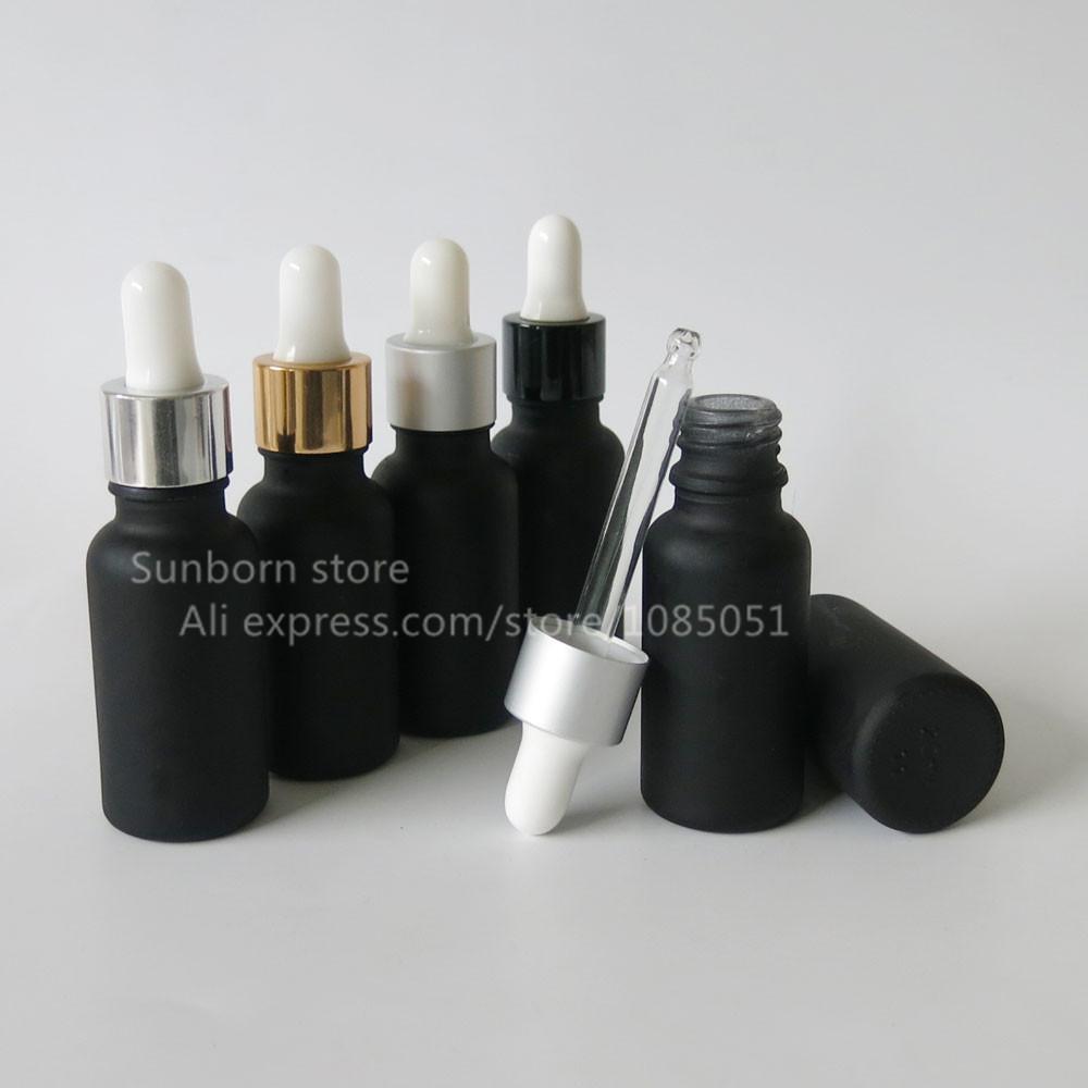 500PCS / 로트 20ML 전자 액체 검은 젖빛 유리 dropper 병