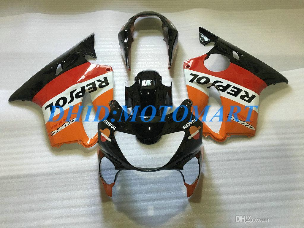 Kit de carénage sur mesure pour HONDA CBR600F4 99 00 CBR600 F4 1999 2000 CBR 600 F4 600F4 CBR600 rouge noir Kit de carénage HP61