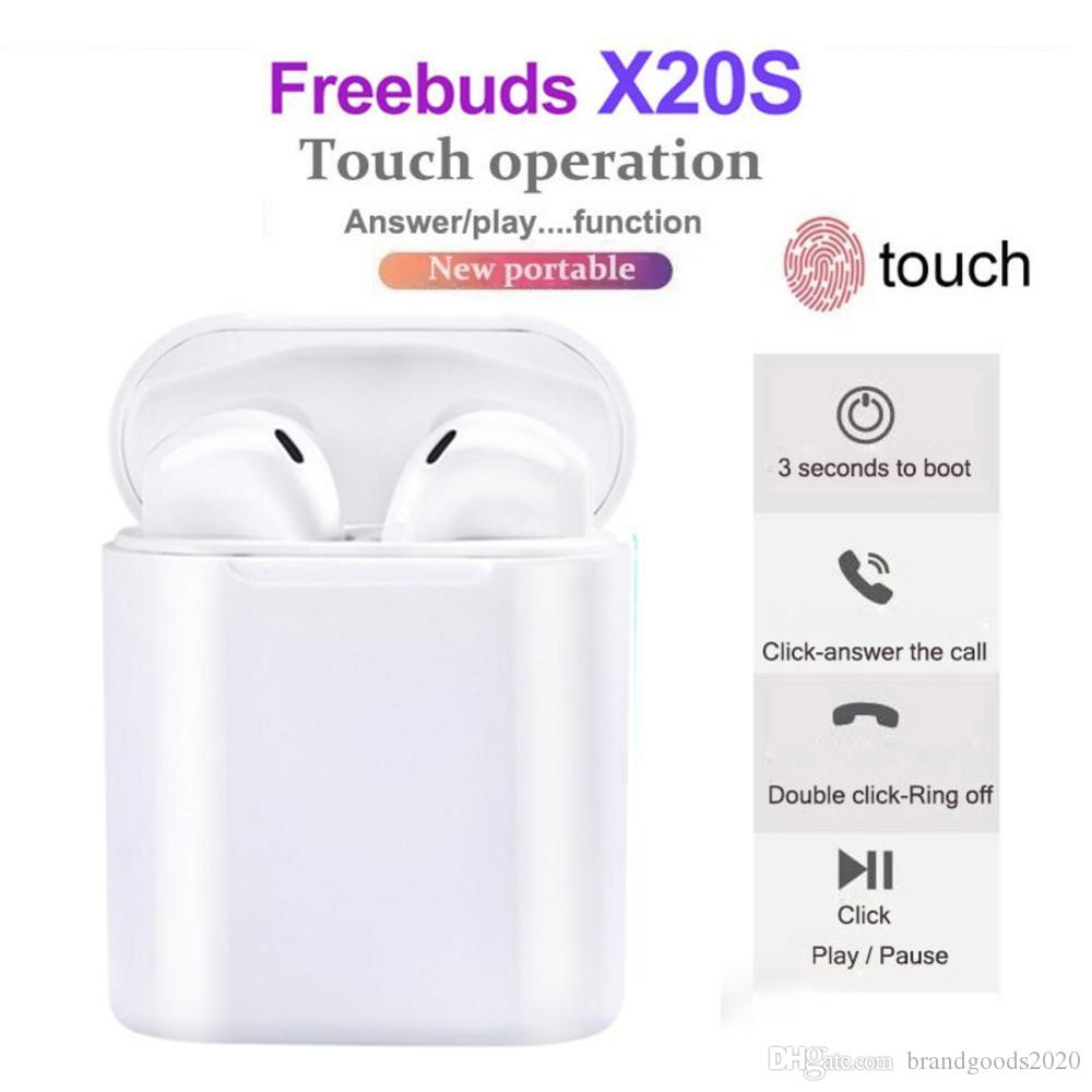 2020 the best X20S Bluetooth Earphone Wireless Earbuds For HUAWEI honor Xiaomi Iphone All Mobile Phon DHL Drop shipping