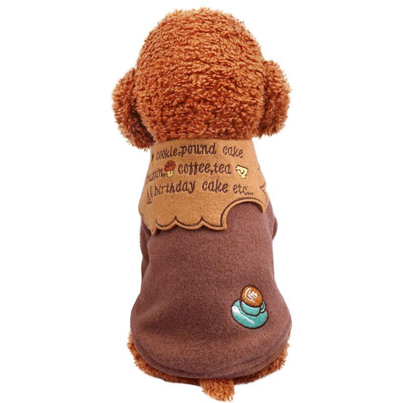 Pet Autunno Inverno caldo del costume ispessimento 2 zampe cappotto di lana del rivestimento per i cani