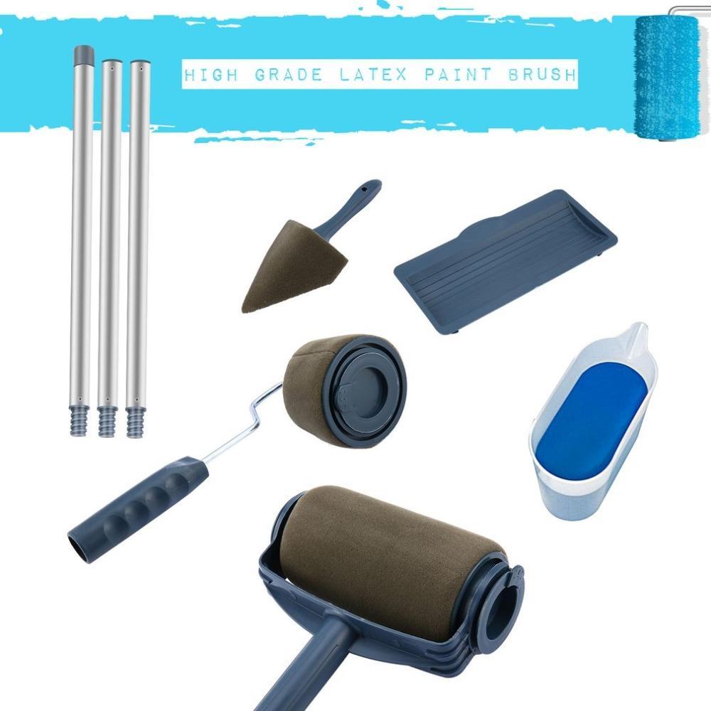 Paint Runner Pro Roller Rodillos pintura de pared Kit pared cepillo de mango herramienta de afinado sala de jardín Pintura del polo + tubo de extensión de bricolaje