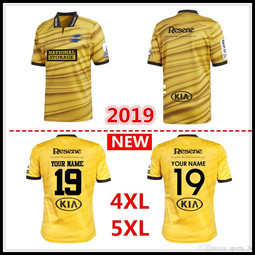 Kundenspezifische Namen und Nummern 2019 Neuseeland Club Hurricanes Jersey League-Shirt Hurricanes Rugby Jerseys Hemden s-5xl kostenloser Versand