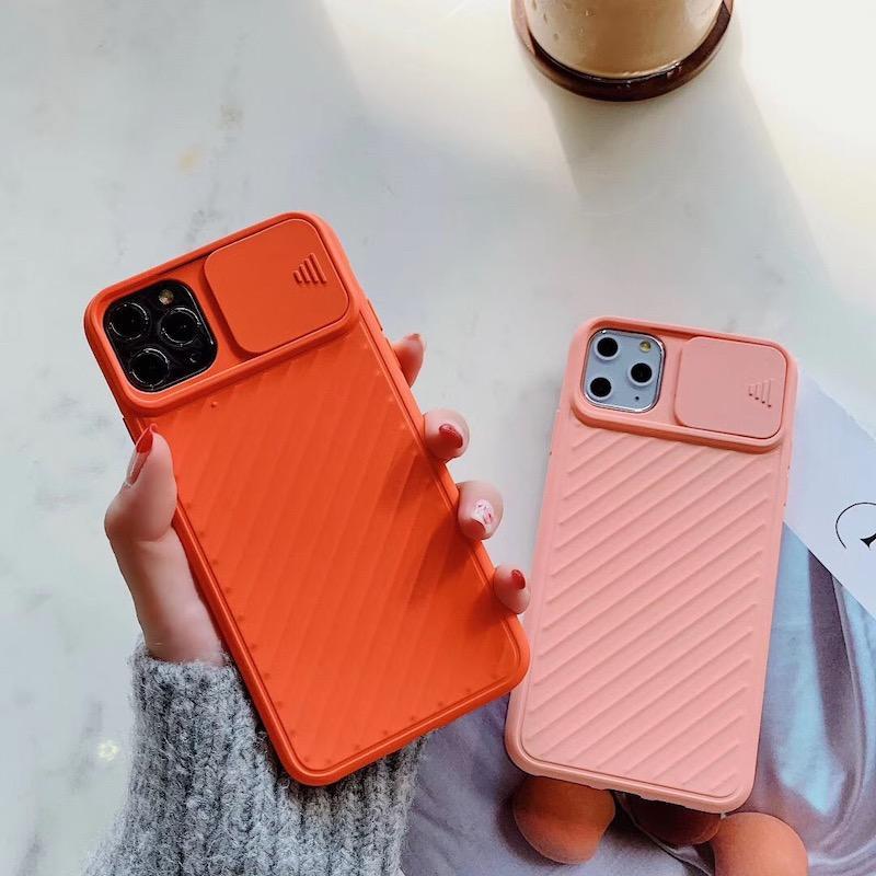 2020 Designer antigraffio antiurto per iPhone cassa del telefono di 11 pro Max XR XS Max 6 7 8plus TPU con orizzontale Finestra di scivolamento