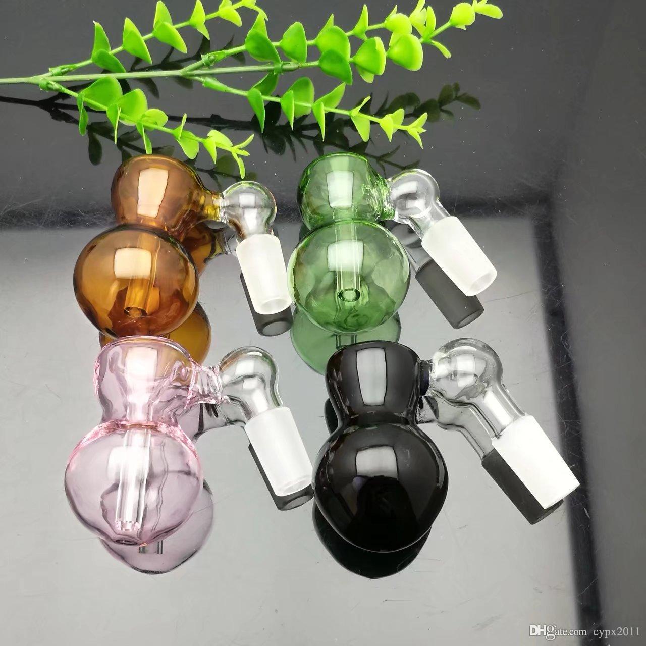 Nova cabeça de garrafa de vidro bongos de vidro Queimador de óleo Tubos de água de vidro Plataformas de petróleo Plataformas de fumo grátis