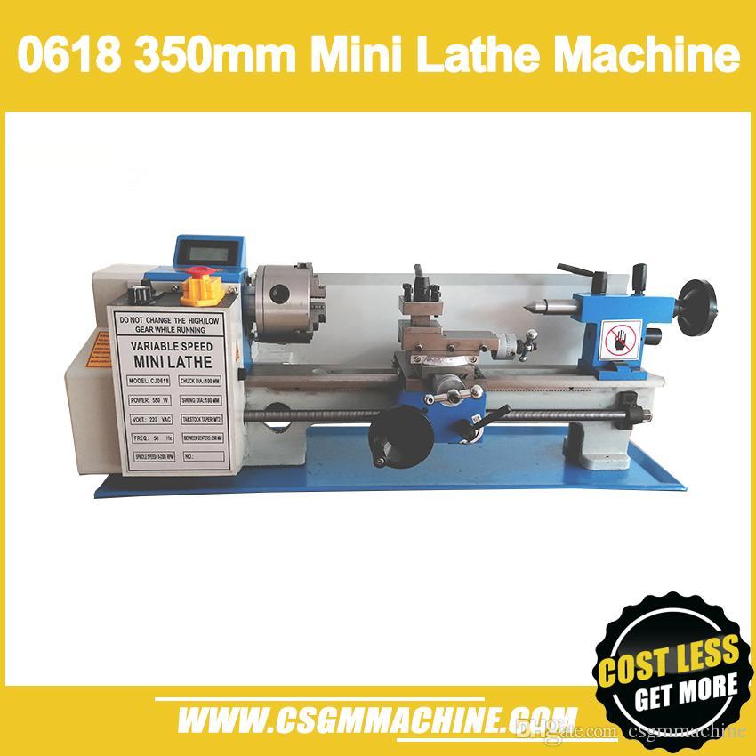 CQ0618 مصغرة مخرطة آلة 600W فرش السيارات ، التروس الصلب ، مخرطة تشاك 100MM