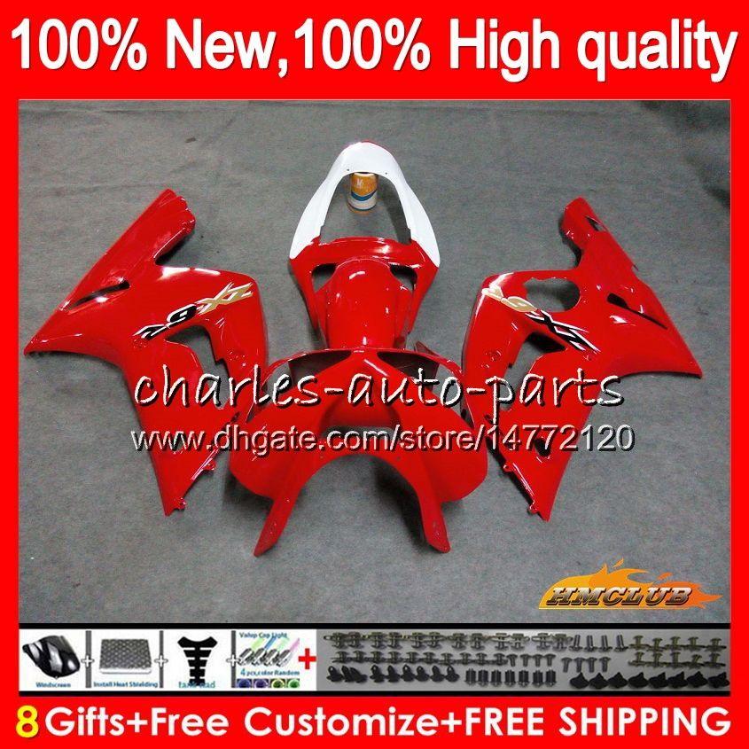 Corpo per Kawasaki 600cc ZX600 fabbrica top rosso kit ZX636 ZX6R 03 04 36HC.4 ZX 6 R 636 ZX 6R 03 04 ZX636 ZX600 ZX6R 2003 2004 completa carenatura