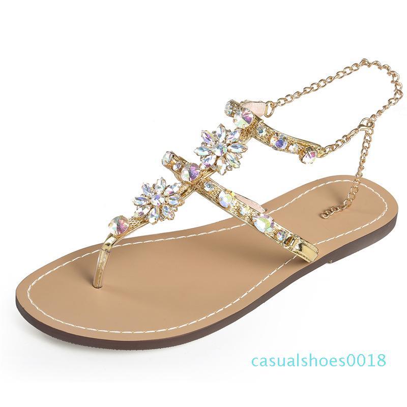Verão Mulheres Sandals para engraxar os Flower Senhoras sapatos flip flops Outdoor Chinelos menina Flats Plataforma Praia Slides Gladitor Mujer tamancos c18