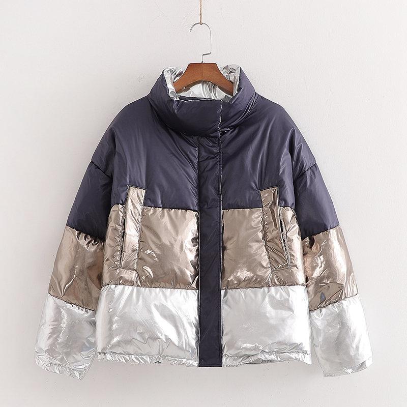 Женские женские Parkas Womens зима двусторонняя водонепроницаемая водонепроницаемая куртка 2021 мода женская вышивка элегантный шикарный толстый теплый