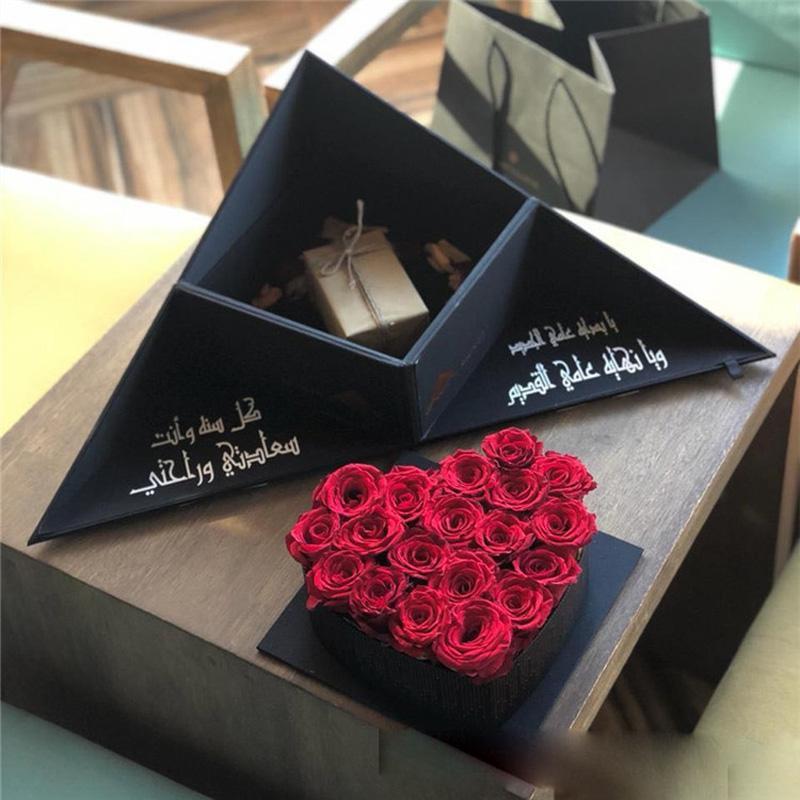 w7086- Creative fleur boîte-cadeau boîte à fleurs en forme de coeur cadeau