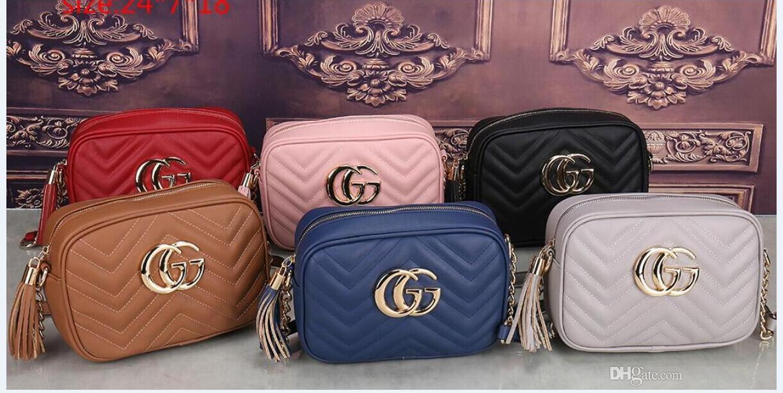 free mailing 2019 famous designer women handbags shoulder bags ladies tassel Litchi profile women messenger bags genuine leather bag #018