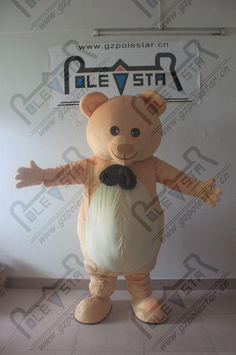 PP хлопок тело вежливый плюшевый мишка костюм талисмана качество лук плюшевый костюмы Полярная звезда костюмы талисмана