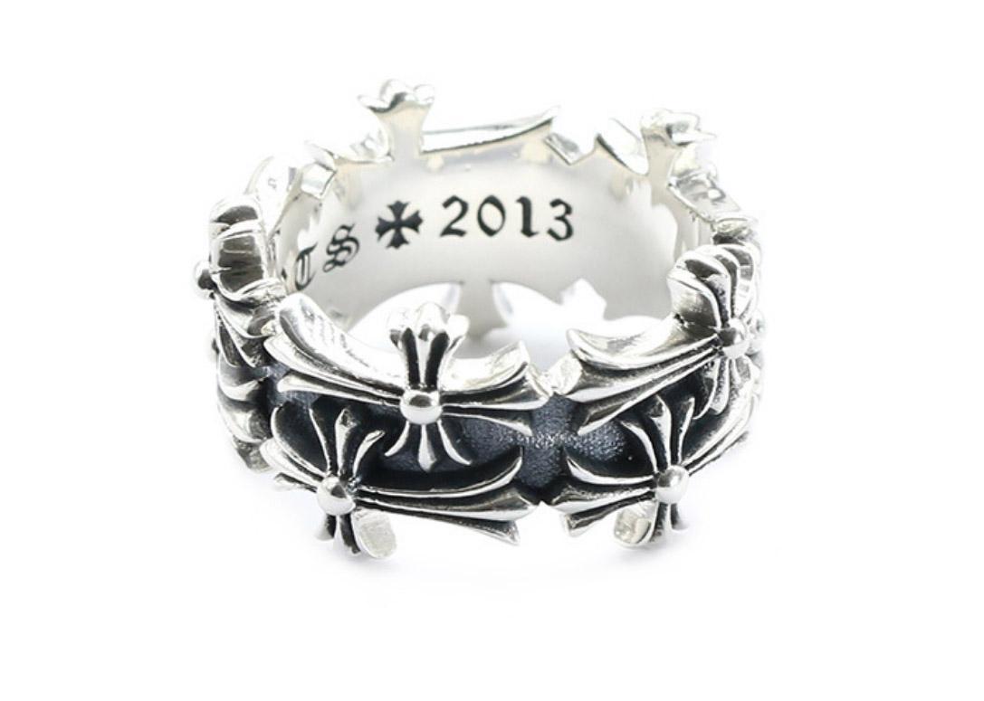 Стерлингового серебра 925 кольца тенденция личности ювелирные изделия панк-стиль мужские женщины любители подарок хип-хоп двухслойный крест роскошные дизайнерские украшения