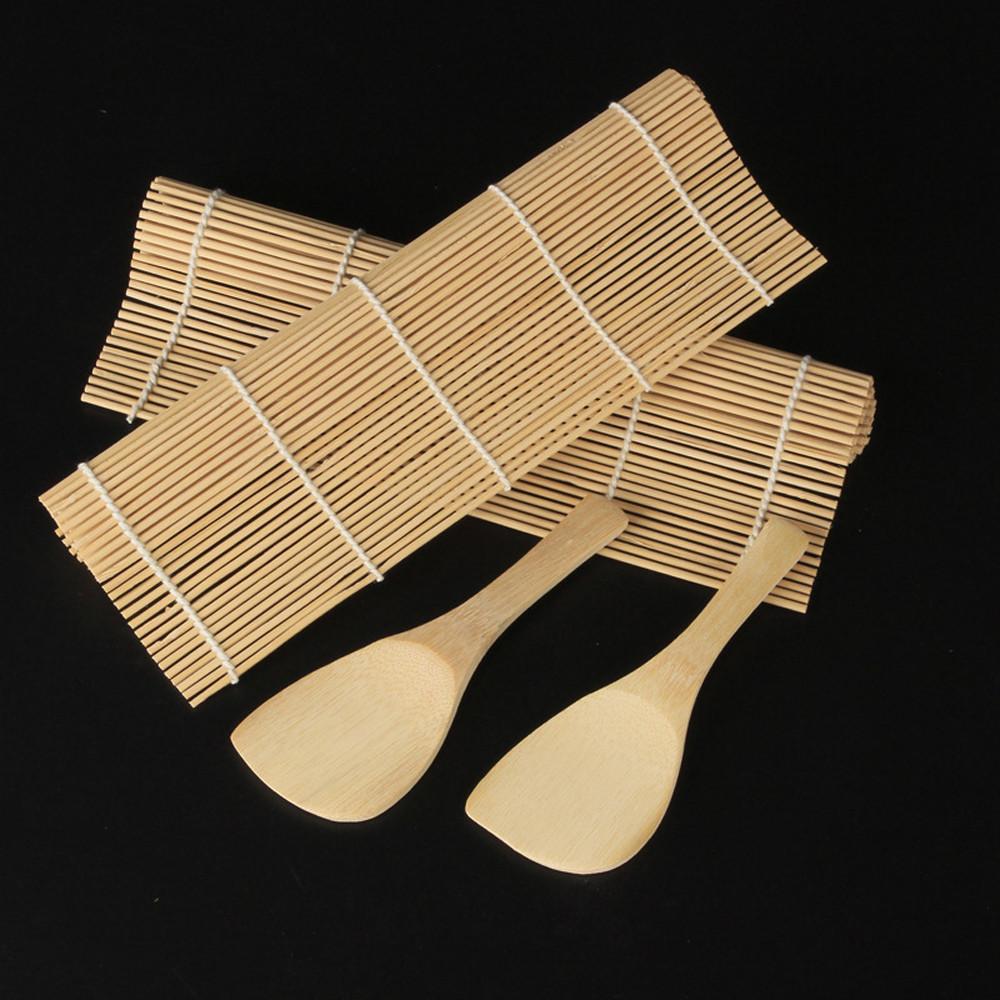 Sushi set Bambu Rolling Mats Paddles Ferramentas De Cozinha De Cozinha DIY