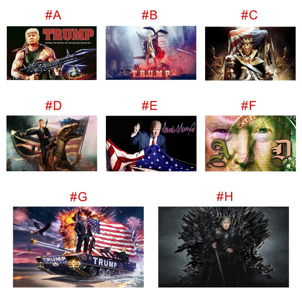 Drop shipping Custom Digital Print 90*150cm Trump 2020 Flags Banners Election For President USA 3*5 Feet Metal Grommet Personality Decortive