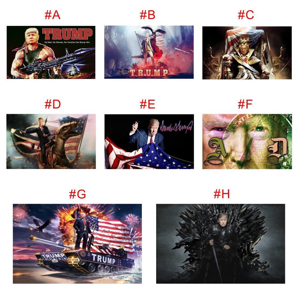 Trasporto di goccia personalizzato digitale Stampa 90 * 150cm Trump 2020 Flags Banner elezione a Presidente USA 3 * 5 Piedi Metallo Grommet personalità Decortive