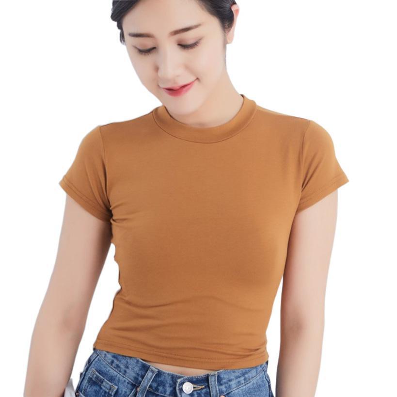 2019 della maglietta di estate delle donne della signora Top Teas Gatti maglietta delle donne casuali marchio di abbigliamento T T-shirt Crop supera per le donne